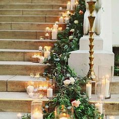 🌱✨Just candles and greenery 💫🌿