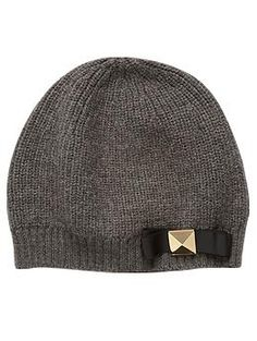 Kate Spade New York In A Flurry Stud Bow Knit Hat | Piperlime
