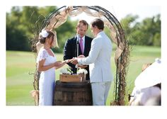 arch with burlap bows - Google Search
