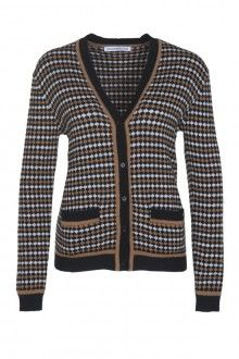 SIS by Spijkers en Spijkers BUBBLE KNIT CARDIGAN  (BLACK/BROWN/WHITE) 215EURO http://spijkersenspijkers.nl/shop/all-products/bubble-knit-cardigan-black-brown-white.html #cardigan #knitwear #bubbleknit #fashion #fashion2013 #fashion2014 #style #mode #inspiration #christmasgift #christmas #gift
