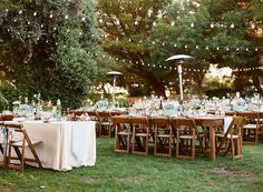backyard receptions - photo by Majesta Patterson http://ruffledblog.com/a-sophisticated-food-truck-wedding