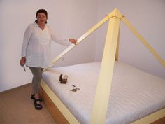 Pyramid bed and house