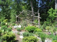 A giant spider web sculpture would look great in my wildlife garden.