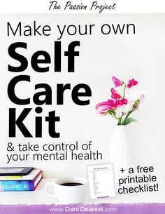 Self care is an incredibly important part of taking control of your mental health! Make your own self care kit with this DIY Self Care Kit guide and free printable download checklist to get you started.