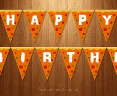 PERFECT FOR A TMNT THEMED BDAY!!! Printable Birthday Banner Happy Birthday by DesignPhotoGraphics, $5.46