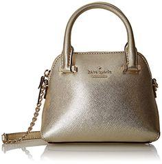 Kate Spade New York Zeder Street Mini, hellgelb Tasche, Gold - gold - Größe: Damentaschen. Handtasche. Handtasche für Damen -  Handtasche Luxus Damentaschen