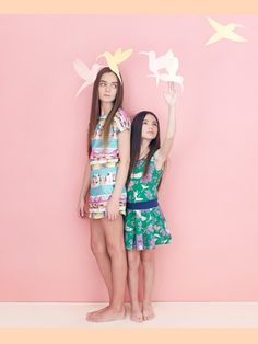 Island print dress by Munster Kids, Paradise print by La Miniatura, girls fashion summer 2014 from Babesta