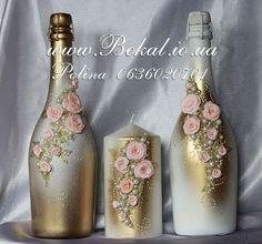 como decorar botellas de vidrio para boda - Buscar con Google