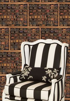 Letter Press Boutique Faux Wallpaper design by Milton & King
