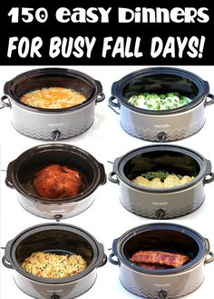 Fall Crockpot Recipes - Easy Dinners, Healthy Soup Ideas, Comfort Food Suppers + more! From cozy crockpot meals for rainy days to healthy crockpot recipes you'll want on repeat, there's something fun for everyone! Go grab some recipes to try this week! Fall Crockpot Recipes, Crockpot Dishes, Crock Pot Cooking, Slow Cooker Recipes, Cooking Recipes, Easy Crock Pot Meals, Healthy Dinner Recipes, Dip Crockpot, Crock Pot Recipes