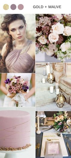 2018 trending mauve and gold wedding color ideas #weddings #weddingcolors #weddingtrends #weddingcolors2018