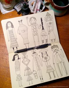 sketchbook page | flora chang, Happy Doodle Land