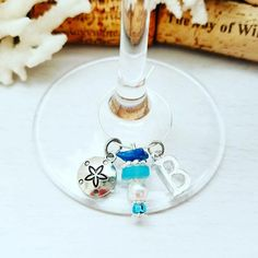 Beach Theme Wine Glass Charms!  #wine #winecharms #bridalshower #winemarkers #drinkmarkers #beach #beachtheme #beachwedding #hostessgift #summerdecor