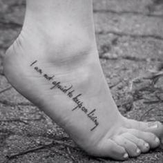 foot tattoo placement