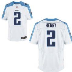 Tennessee Titans #2 Derrick Henry Nike White Elite 2016 Draft Pick Jersey