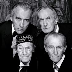 The legends of Horror film:   Christopher Lee, Vincent Price, John Carradine, and Peter Cushing