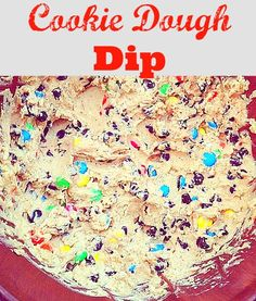 recipe for yummy cookie dough dip.