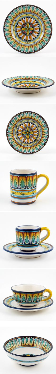 opulent, luxurious dinnnerware by Fima. Italian handmade ceramic with woo hoo effect