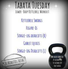 Tabata Lower Body Kettlebell Workout