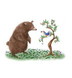 Bear and Bluebird