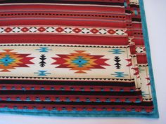 Southwestern Placemats Reversible Dark Red by tracystreasuresri