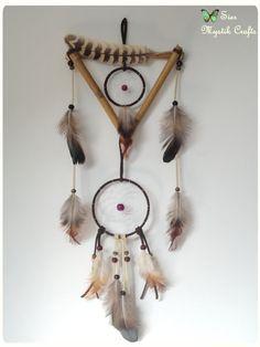 Hey, I found this really awesome Etsy listing at https://www.etsy.com/listing/165233861/spring-triangular-bambu-dreamcatcher