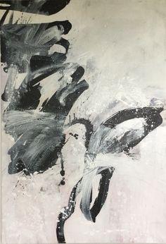A Strong Winter – Bernadette Morand Black And White Painting, White Art, Art Blanc, Willem De Kooning, Art Oil, Modern Art, Abstract Art, Texture, Gallery