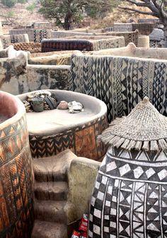 Africa | Kassena homestead.  Burkina Faso | ©Christian Jeantelet