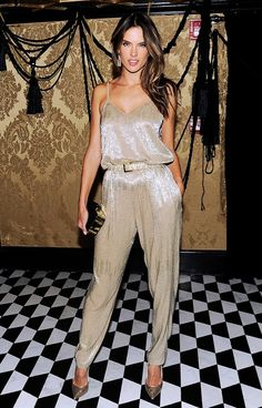 Alessandra Ambrosio wearing Houghton Harley jumpsuit // InStyle 20th Anniversary celebrations #NYFW