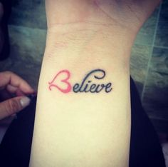 """tattoos - I don't like tattoos but I love some of the art ----------""""Believe""""   19 Tattoos That Literally Everyone Got In 2014"""