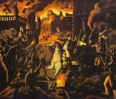 Depiction of the Moscow fire, 1812