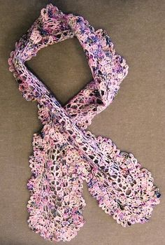 """L.A. Is My Beat: Gifties - """"Pinkie"""" scarf crocheted from Koigu"""