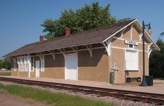 Minneapolis & St. Louis Depot in Fairfax, Minnesota. It is Renville County's oldest and most intact railway station on its original site, built 1883 and now houses the Fairfax Historical Depot Museum, containing articles and relics from homes and businesses from around the area.  It was listed on the National Register of Historic Places in 1986, NRHP Reference # 86001921.