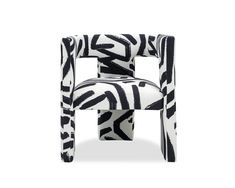 White Accent Chair, Black And White Chair, Black And White Interior, Black White, Contemporary Chairs, Contemporary Style, White Dining Chairs, Bedroom Chair, Occasional Chairs