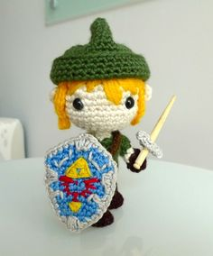 Arigurumi Link. I wish I could crochet.