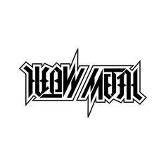 """Heavy Metal"", rotational ambigram"