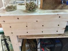 DIY Woodworking Vise : 11 Steps (with Pictures) - Instructables Diy Woodworking Vise, Woodworking Epoxy Resin, Woodworking Workshop, Woodworking Videos, Woodworking Projects, Woodworking School, Woodworking Classes, Wood Router, Woodworking Tools