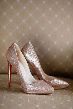 Classic Pink Manor Wedding. Prom HeelsRose Gold Heels WeddingRose Gold Shoes  ... 8a922c453a0e