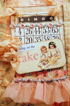 Birthday Girl Altered BINGO Tag