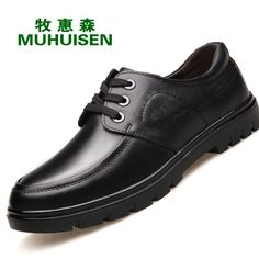 49.87$  Watch here - British Style Men Shoes Lace Up Oxfords Business Shoes Genuine Leather Men's Casual Shoes Male Flats Chaussure Hommes XK060502  #shopstyle