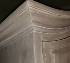 Honfleur, French Linen and Old White Wash Armoire