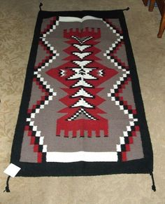 Saltillo Mexican Throw Or Area Rug Tapestry Southwestern Lg 4x6 Acrylic Gold Accent Rugs And Woods