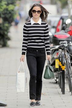 Pippa Middleton - Pippa Middleton in Stripes
