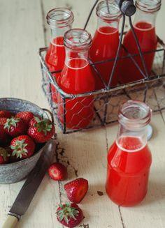 Limonade aux fraises, oranges & érable, sans gluten, sans lactose, repas cru, végétarien, menu santé