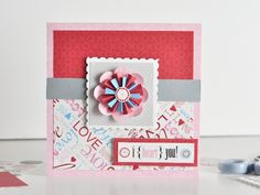 """Folded paper flower """"how to"""" from the Creative Memories website"""