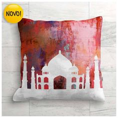 Capa de Almofada - Taj Mahal - Agra - Índia ALM008A