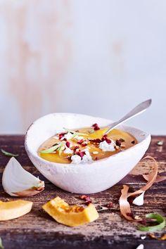 Kurpitsa-omenakeitto | K-ruoka #myskikurpitsa I Love Food, Camembert Cheese, Soup Recipes, Soups, Soup, Soap Recipes