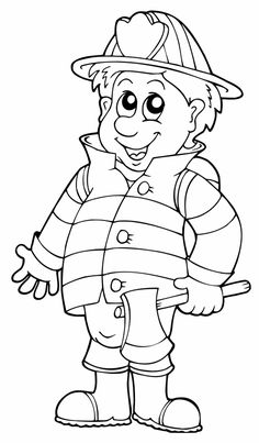 Firefighter coloring pages – 消防隊員 – 消防士 – رجال الاطفاء – tuletõrjuja – πυροσβέστης – Pompier – coloriage – - pictures, photos, images Firefighter, Bunt, Fallout Vault, Smurfs, Coloring Pages, Snoopy, Iron, Fictional Characters, School Stuff