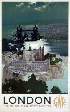 'London', GWR poster, 1938., Mason, Frank Henry