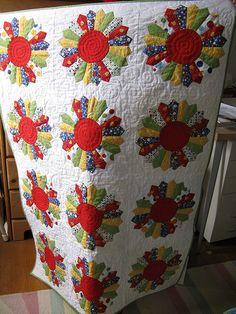 Dresden Plate Baby Quilt   Baby quilt, dresden plate pattern…   Flickr